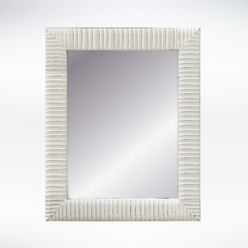 16x20 White Sanded Edge Mirror