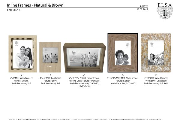 PP2776 Inline Natural-Brown Frames