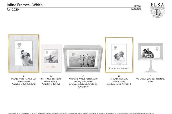 PP2777 Inline White Frames