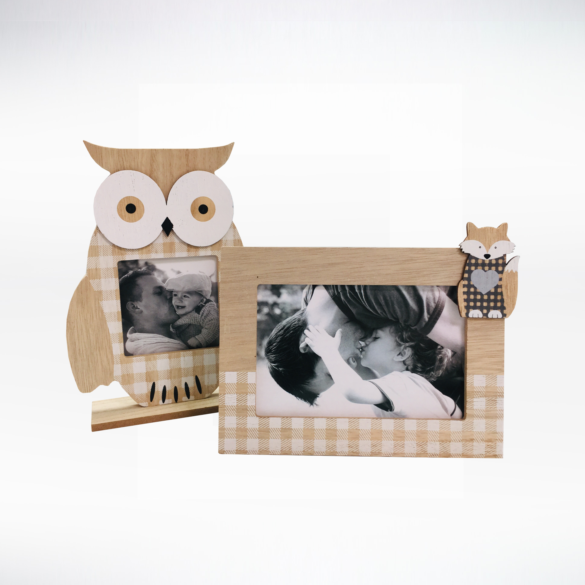 Owl and fox Plaid