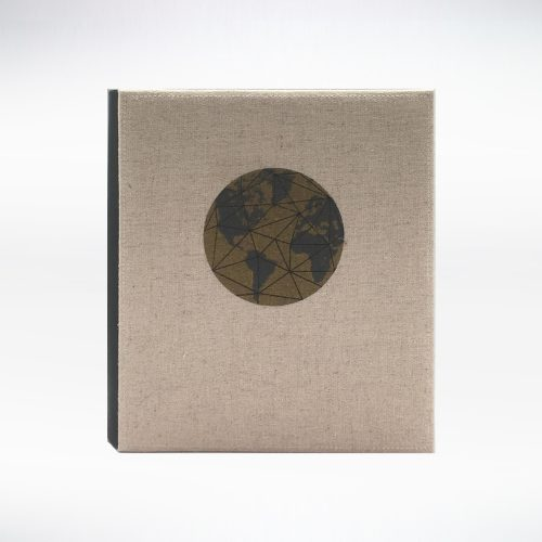 Linen + Silkscreen - Globe