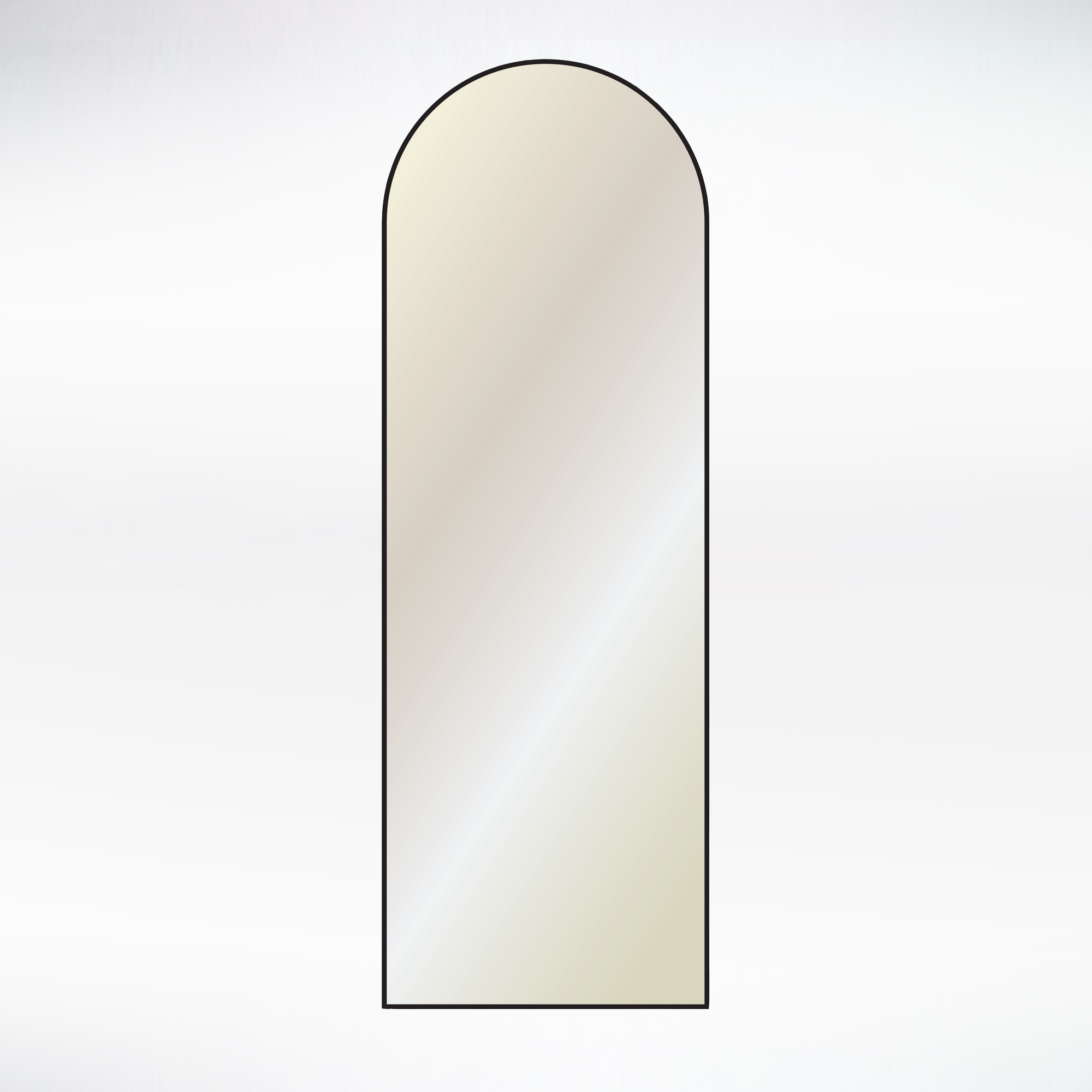 Long Mirror - Metal Arched