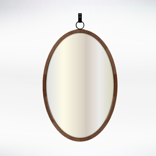 Metal - Oval Mirror