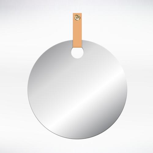 Metal - Round Mirror Leather Strap