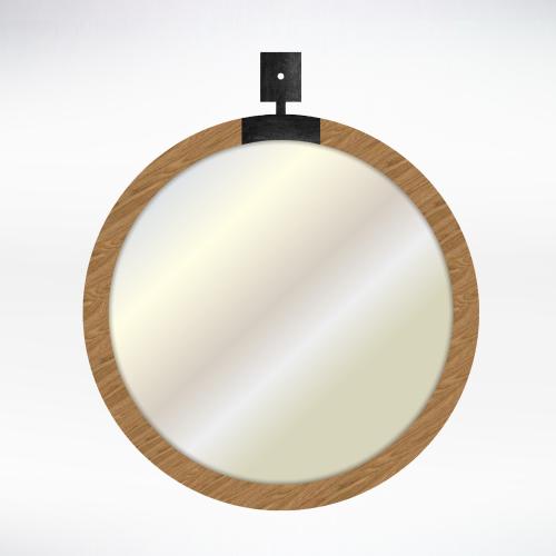Metal - Wood Mirror